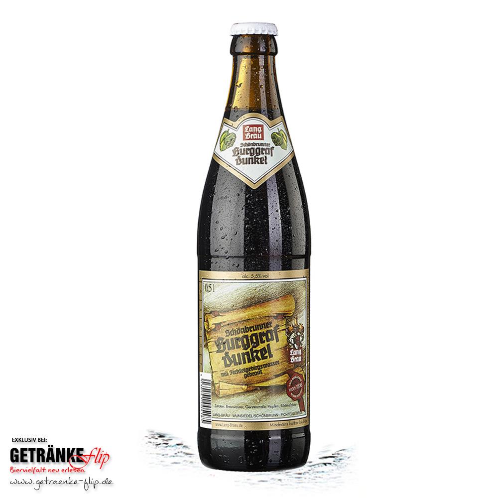 Lang-Bräu Schoenbrunner Burggraf Dunkel | Produktbild | #GetraenkeFlip