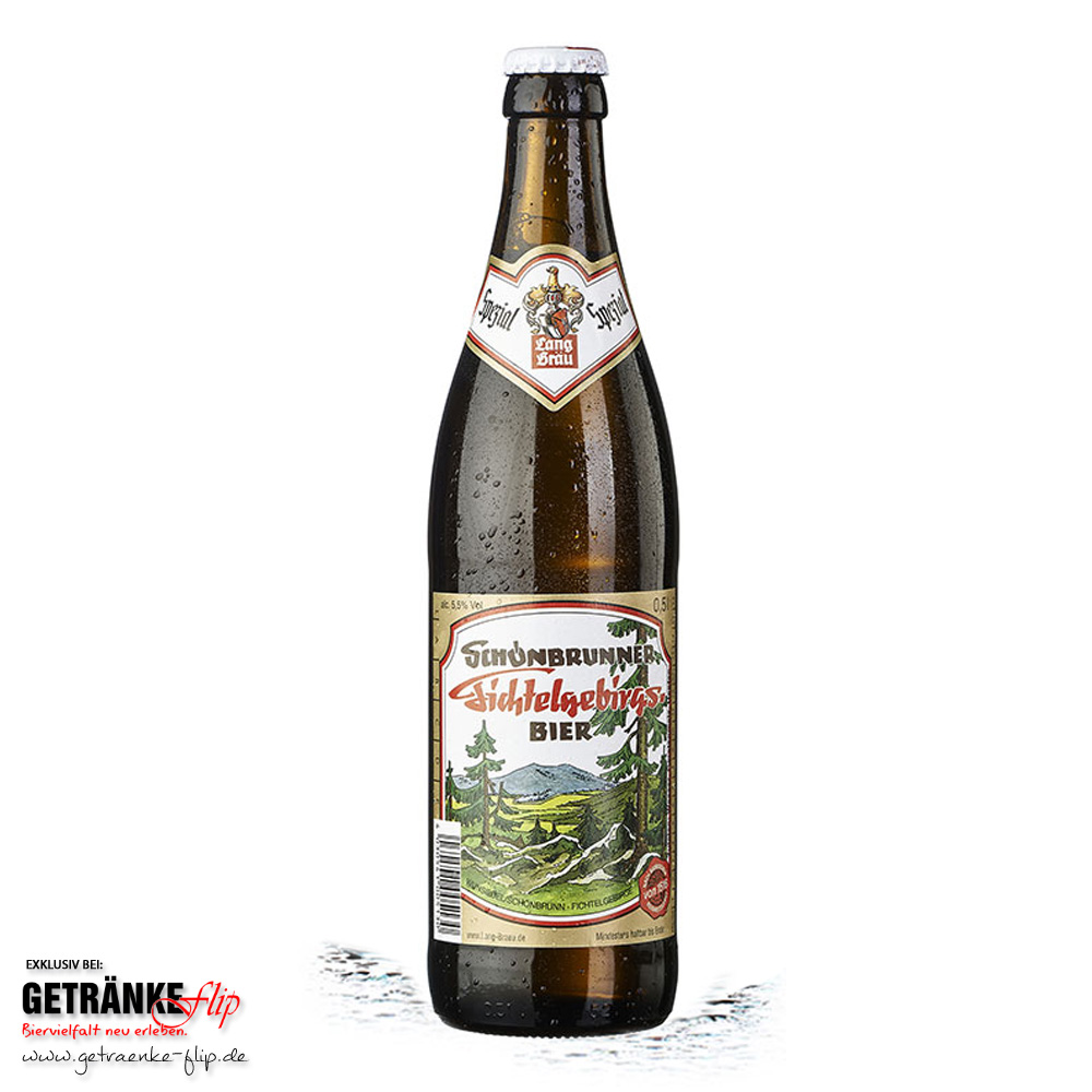 Lang-Bräu Schoenbrunner Fichtelgebirgs Bier | Produktbild | #GetraenkeFlip