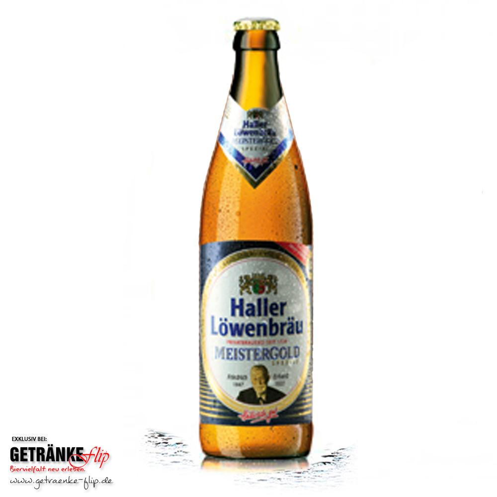 Haller Loewenbraeu Meistergold Spezial | Produktbild | #GetraenkeFlip