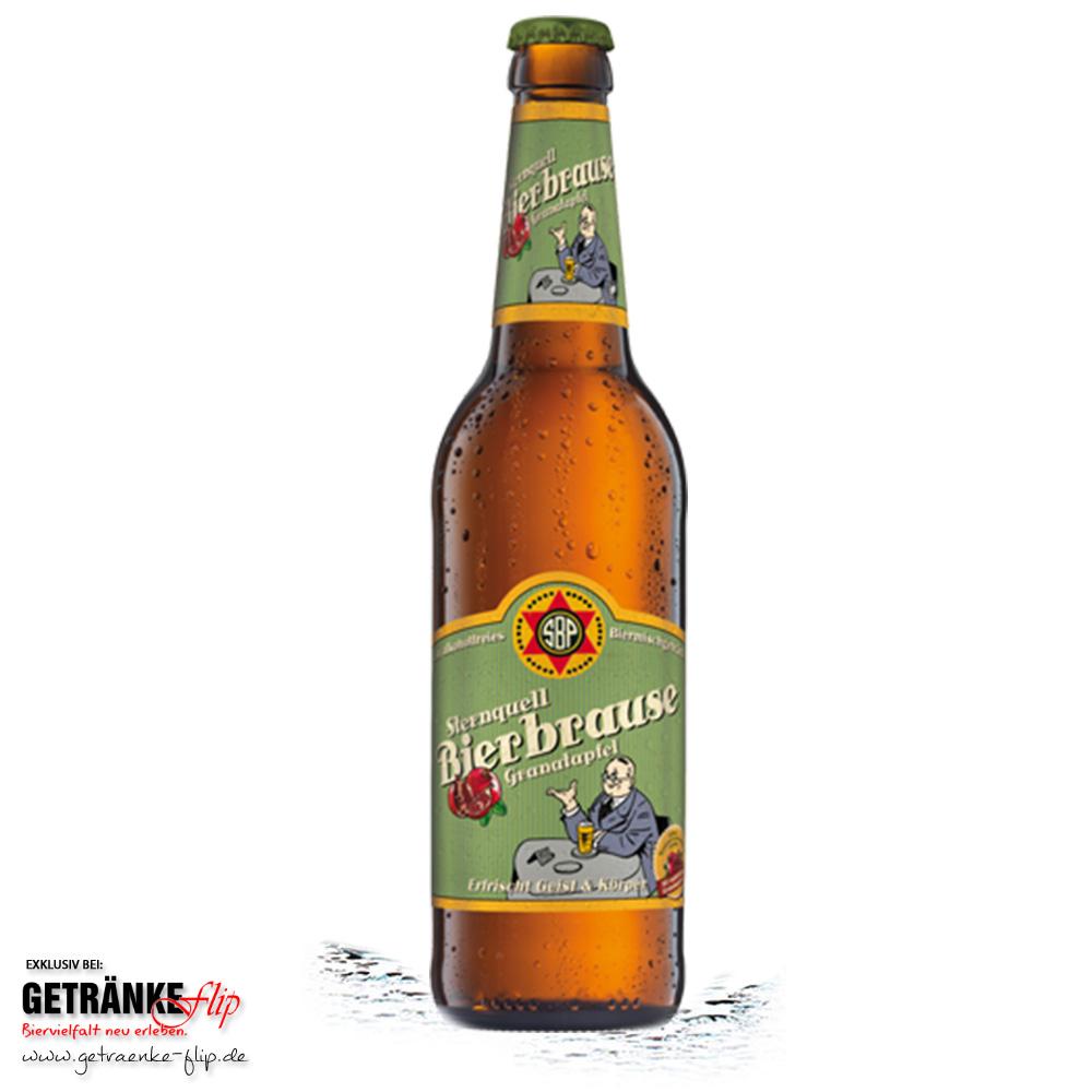 Sternquell-Brauerei Bierbrause Granatapfel (Produktbild #GetraenkeFlip)
